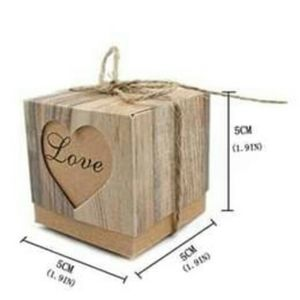 New candy favor boxes with burlap twine 50 pcs